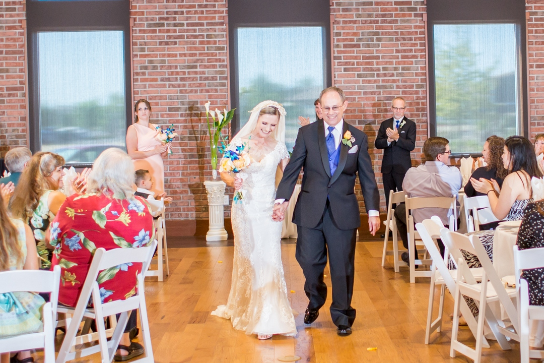 Bride, groom, guests, recessional, Rev. Jeri Murphy, Angelee Arceo Photography