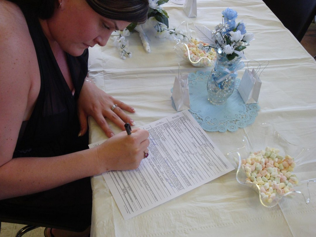 Marriage License, witness, signature, California Marriage License